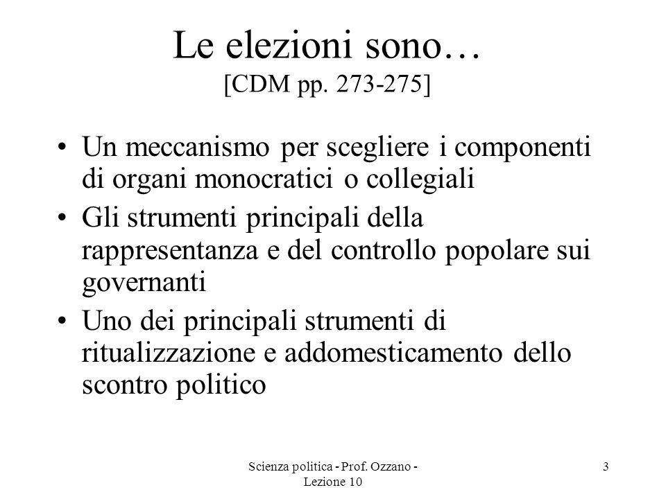 Le elezioni sono… [CDM pp. 273-275]